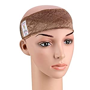 Dreamlover Elastic Wig Grip Headband, Adjustable Non Slip Velour Thin Wig Scarf Hat Grip Band, Perfect for Keeping Wigs from Slipping (Brown)
