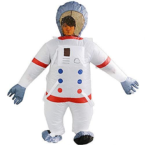 K2 Disfraz de Halloween Inflable Disfraz de Astronauta Espacial Traje de Cosplay, Cosplay Divertido de la Novedad para Halloween y Juegos de Fiesta