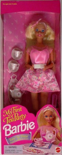 Tee Barbie Party (Barbie - MY FIRST TEA PARTY PARTY, 1995 EDITION, #14592. NRFB, WITH ALL ACCESSORIES by Barbie)