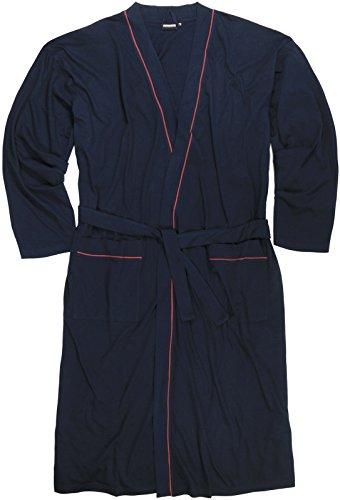 ADAMO Hausmantel, dunkelblau mit rot, XXL bis 10XL, Größe:6XL