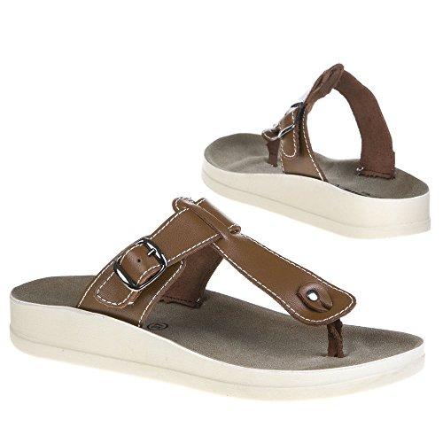 Damen Schuhe, 16099, SANDALEN Braun