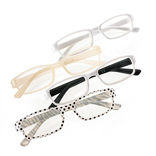 4er SET Damen Herren Slim Lesebrille +0.5 +1.5 +2.0 +3.0 +4.0 Retro Reading Brille Cateye Romens Ltd ... (4 Pair Set 5, +3.00)