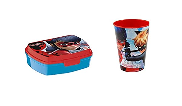Boite /à gouter Miraculous Ladybug Marinette Lunch box enfant d/éjeuner plastique
