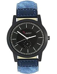 Xurious Enterprise Round Dial Analogue Black Dial Blue Leather Strape Fashion Wrist Watch For Men & Boys | XE-FX... - B07G4JPJ79