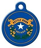 Dog Tag Art Nevada Flagge–Custom Pet ID Tag für Hunde und Katzen, l