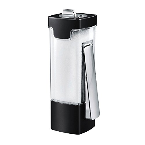 Honey-Can-Do KCH-06071 Indispensable Sugar 'n More Dispenser, Plastik, schwarz, 6.4 x 5.1 x 6.4 cm