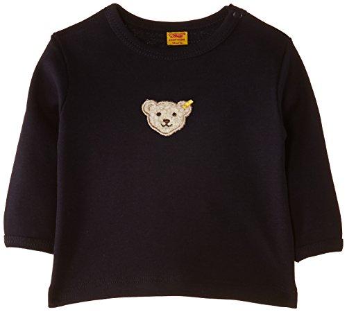 Steiff Unisex - Baby, Bluse, 0006671 T-Shirt 1/1 Sleeves, GR. Neugeboren (Herstellergröße:50), Blau (steiff Marine)