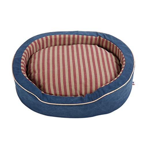Vier Jahreszeiten Hundebett Oval Katzenbett Sofa-Stil Couch Haustierbett Sleeper Matratze Pet Products für große mittlere und kleine Rasse Hunde und Katze Golden Retriever Teddy (größe : S) - Sofa Couch Sleeper