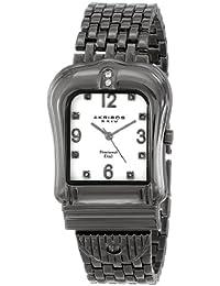 Akribos XXIV AK528BK de las mujeres hebilla de cuarzo reloj de pulsera