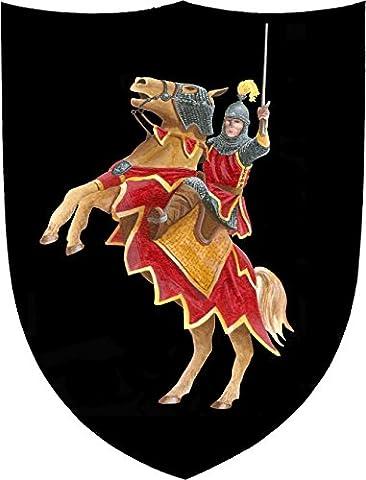 Fantashion F 10 - Ritter-Schild, Verkleiden und Kostüm, rot/schwarz (Ritterschild Kostüm)