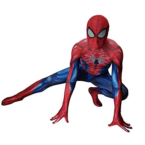 ASJUNQ PS4 Spiderman Anime Kleidung Strumpfhosen Halloween Kostüm Party Thema Party Movie Requisiten,Child-M(110~120CM)