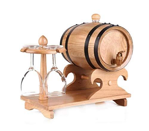 QHY Weinregal, 5-Liter-Eichenfass, Weinglashalter, WHI-Bulk-Weinmaschine, Rum, Tequila, Bier Usw.Bar Ist Der Beste Service,Log,A - 5-liter-eichenfass