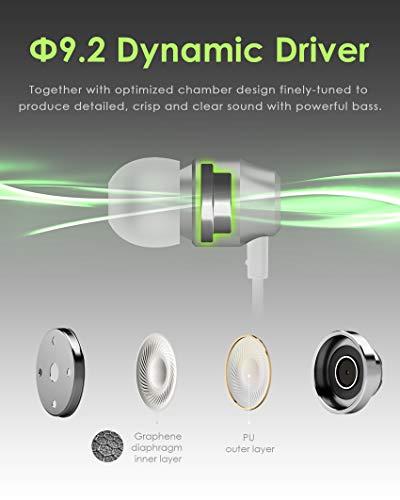 PALOVUE Earflow In-Ear Lightning Kopfhörer Magnetischer MFi Zertifizierter Ohrhörer mit Mikrofon-Controller für iPhone X/XS/XS Max/XR iPhone 8 / P iPhone 7 / P (Metallic Silber) - 3