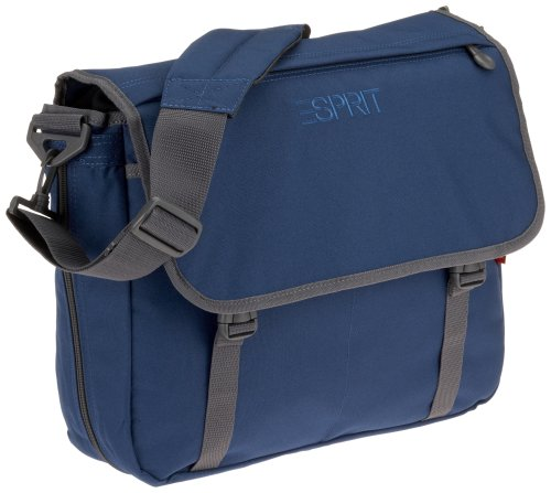 ESPRIT ESSB 104001 B SEC School Courier Bag Secondary, ca. 32 x 17,5 x 38,5 cm, Blue -