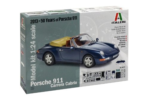 Italeri 3679 - Porsche 911   Carrera Cabrio Model Kit  Scala 1:24