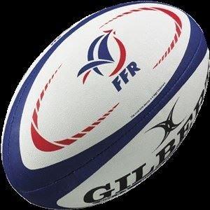 Frankreich Fans Rugby Ball Weiß/ Blau/ Rot - Weiß, Mini - Frankreich
