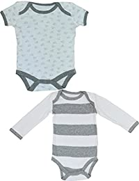 Pride Apparel 2 Combo 100% Premium Organic Cotton Baby Rompers Body Suit (3-6 Months)