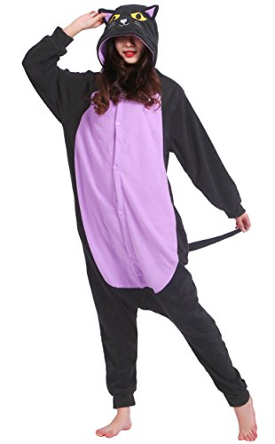Unisexe Adulte Animal Cosplay Kigurumi Pyjama pour taille 140-187 cm - Minuit Chat