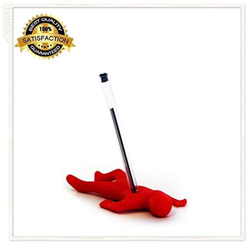 Marilia Saugen Sie den Silikon-Stand-Top-Stift- oder Bleistifthalter ab, um den Schreibtisch sauber zu halten. (rot) (Süße Rote Binder)