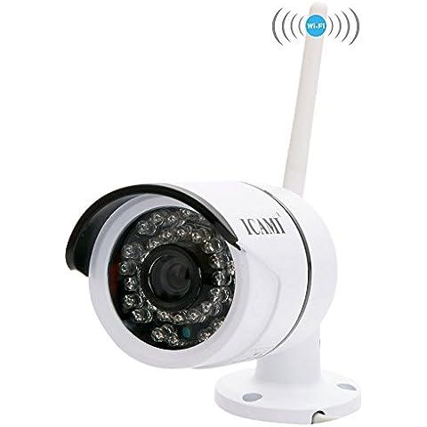 Icami CA-807A-R HD 720P 36IR exterior impermeable inalámbrica Wifi Cámara IP Bullet