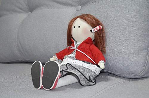 Tilda - Muñeca textil Tilda, con zapatos, muñeca Matilda suave, juguete pequeño de peluche, muñeca de tela para decoración de guardería, hogar, muñeca de interior