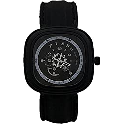 Gear second hand men square silicone strap sports watch