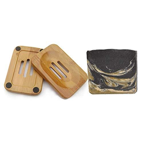 Mijo BLACK GOAT schwarze Seife mit Ziegenmilch handgemachte Naturseife mit Bio Olivenöl, ohne Palmöl ca. 100g + Schale -