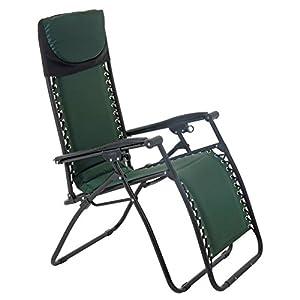 Azuma Padded Zero Gravity Chair - Dark Green