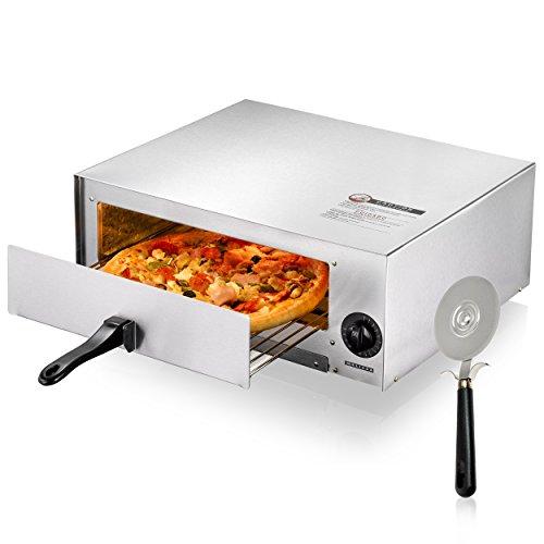Forno elettrico per pizze Melissa da 1450 watt con 30 cm Ø inclusa rotella tagliapizza Oramics