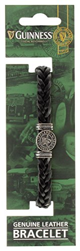 guinness-ireland-collection-genuine-black-leather-bracelet-with-silver-harp