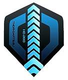 THOR-DARTS 150 Micron Extra Strong Darts Flights HD-280 Schwarz-Blau 7Set(=21Flys) Extra Lange Haltbar (150mic, vergleichbar Rhino+ Oder Pentathlon HD150) (21)
