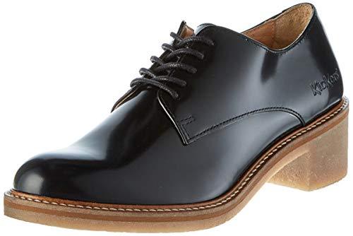Kickers Oxyby, Zapatos de Cordones Derby para Mujer, Negro Noir 8, 39 EU