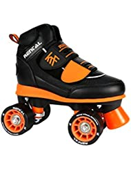 KRF The New Urban Concept Velcro Jr Patines Paralelo 4 Ruedas, Negro, 32-