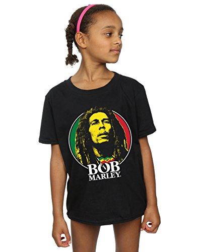 Bob Marley Mädchen Logo Badge T-Shirt 5-6 Years Schwarz -