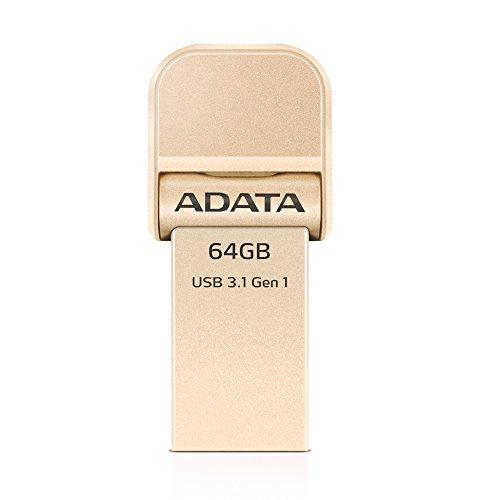 ADATA AI920 64GB iMemory Lightning/USB 3.1 Speicherstick für iPhone, iPod, iPad, iOSGeräte, Apple MFi zertifiziert, Rotgold (AAI92064GCGD) Picture