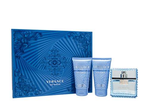 Versace Eau Fraiche Geschenkset 50ml EDT + 50ml Duschgel + 50ml Shampoo