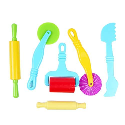 Kunststoffkelle 6 Teile/Satz Mischteig Tonschneider Plastilin Form Modellieren Kinder Kinder