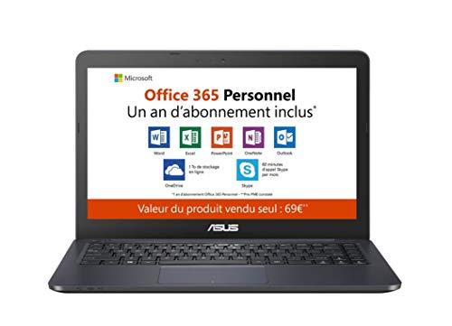 "Asus Vivobook E402YA-FA094TS PC portable 14"" FHD bleu (AMD E2, RAM 4Go, EMMC 64Go, Windows 10 S) Office 365 inclus - Clavier AZERTY Français"