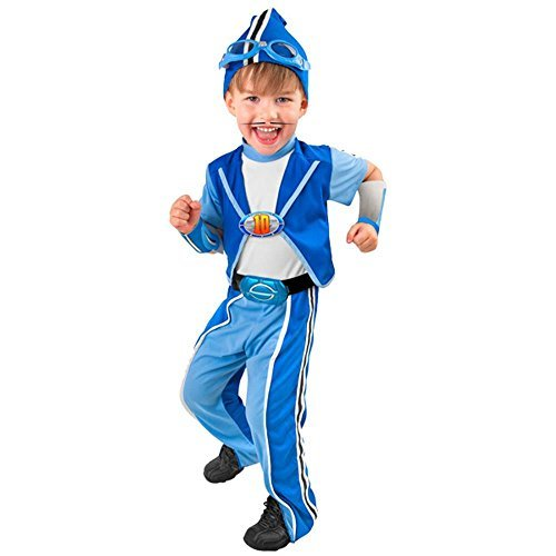 Kid's Deluxe Lazy Town Sportacus Costume (Size: Small 4-6) by Wilton