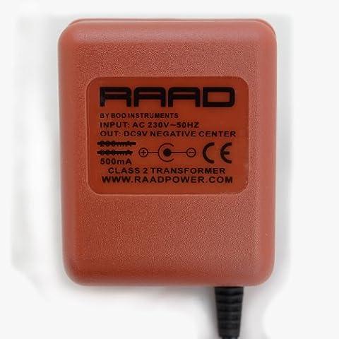 RAAD regulated DC 9V AC/DC power supply adaptor tip negative center class 2 transformer replacement for boss PSA-230 PSA-240 (100mA)