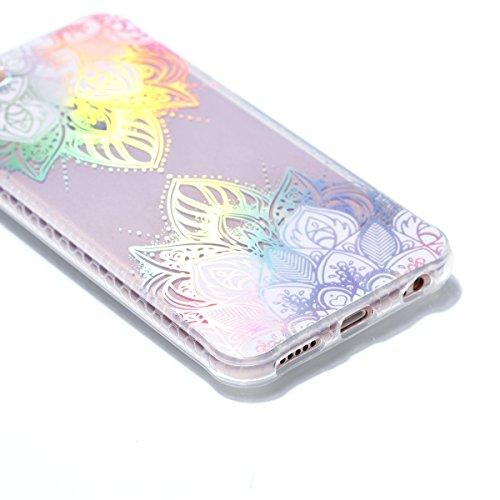 Ecoway Apple iPhone 6s Plus Case,iPhone 6s Plus Cover, TPU Soft Motif de placage en couleur personalized pattern Housse en silicone Housse de protection Housse pour téléphone portable pour Apple iPhon Rose