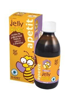 Eladiet Jelly Kids, Jarabe de jalea real fresca, quina y 6 vitaminas, 250ml