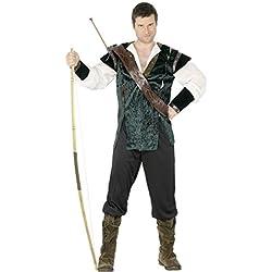 Disfraz de ladrón verde M 48/50 bosque de Robin Hood de disfraces disfraz de la Edad media de arqueros corredoresconstellation héroes de vestuario