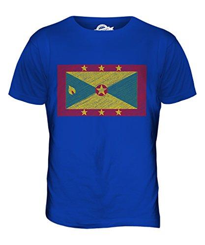 CandyMix Grenada Kritzelte Flagge Herren T Shirt Königsblau