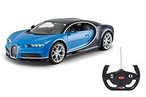 Jamara- Bugatti Chiron 1:14, Color Azul (405135)