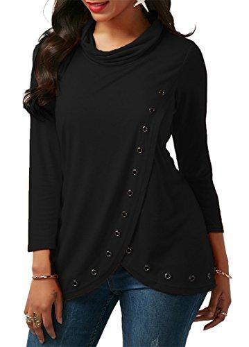 Vian Lundgaard Sweat-shirt - Manches Longues - Femme Noir