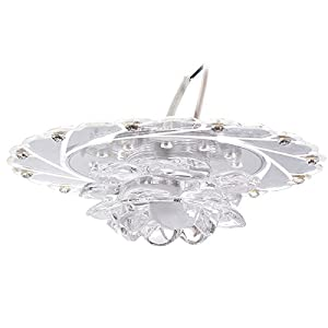 Modern 3W LED Crystal Lotus Ceiling Light Aisle Bedroom Living Room Home Decor Lamp 220V by Sunix
