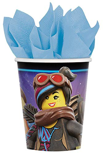 Amscan 581711 8 Papierbecher Lego Movie 2, 266 ml, Mehrfarbig