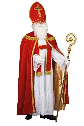 Kostüm Deutsch - Bischof Sankt Nikolaus Komplett Kostüm edel + Zubehör aus Deutscher Herstellung