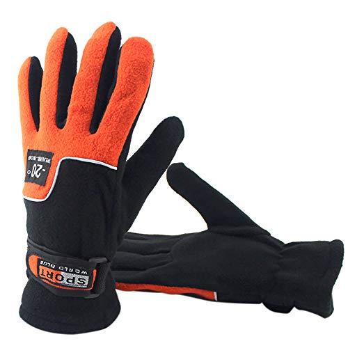 AmyGline Outdoor Fahrradhandschuhe Anti-Rutsch Winddicht Winter Warme Handschuhe Sporthandschuhe Ski